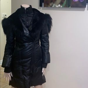 ❄️ Black Sly & Co real leather & fur winter jacket